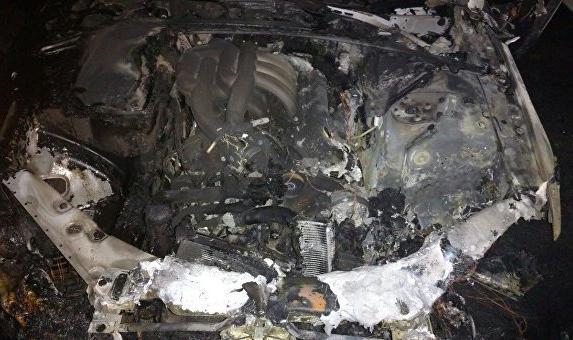 В Феодосии водитель заживо сгорел в автомобиле (фото)