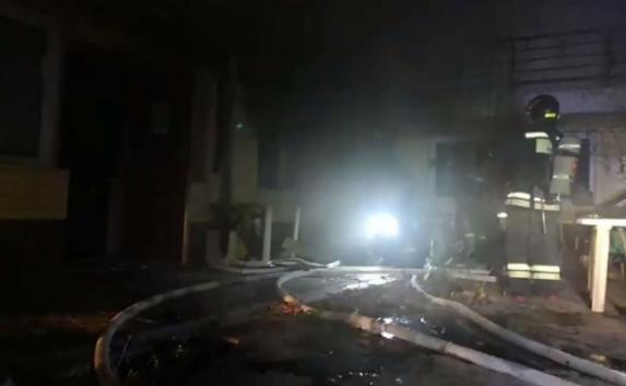 В Севастополе горела гостиница «Руслан и Людмила» (видео)