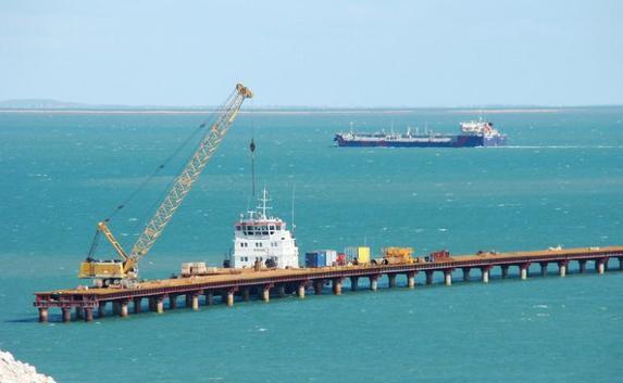 Свежие фото с площадки строительства Керченского моста
