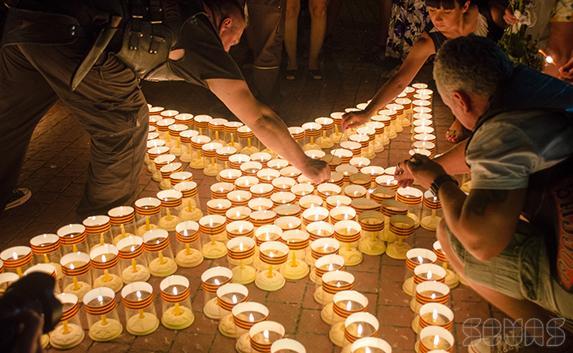 Акция «Свеча памяти» состоялась в Севастополе